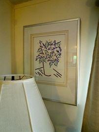 Original framed art work by J. Wadman