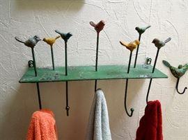 Unique bird hook hanging shelf