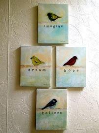 Group of four prints on cavas