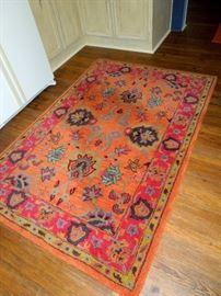 Rectangular decorator rug
