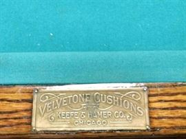 Antique Keefe & Hamer pool table. Could be smashing with a little TLC