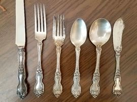 Sterling silver. 12 place settings