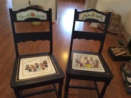 Interesting Snoopy and Disney side chairs