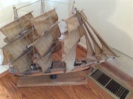 Antique clipper ship model 1949 Sea Witch