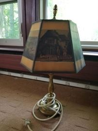 Brass Lamp with Hunting Dog Images     https://ctbids.com/#!/description/share/26959