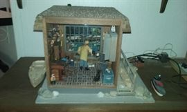Fisherman dollhouse diarama