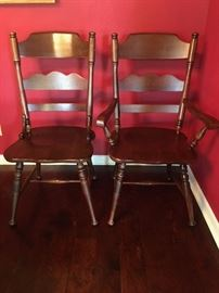 Set of dining room chairs.  2 arm chairs & 4 side chairs.  In perfect condition.
