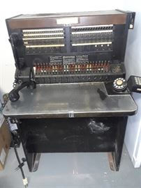 Vintage Telephone Operator's switch board