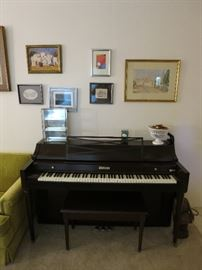Beautiful Baldwin Piano In Great Shape, Original Oil On Canvas, Abstract Art, Watercolor