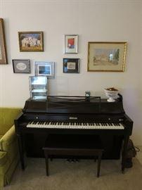 Beautiful Baldwin Piano In Great Shape, Original Oil On Canvas, Abstract Art, Watercolor