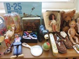 Pull String/Jumping Jack Wooden Puppet,  Cool Bear, Sweet Brush, Vintage Storybook Doll, Sleepy Eye Baby Doll