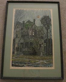 Victoria House, Nancy Bickford Bandy, 1975, Woodcut Medium