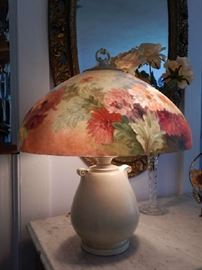 HANDEL REVERSE PAINTED CHIPPED ICE LAMP SHADE-SIGNED
