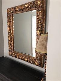 Stunning oversized mirror.