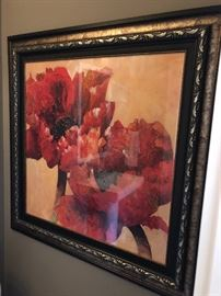 Supersize floral artwork