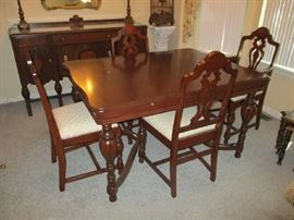 REFINISHED DINING TABLE W/4 CHAIRS