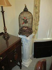 PEDESTAL, BIRD CAGE