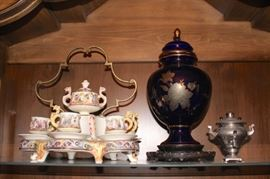 Tea Set, Stand and Urns