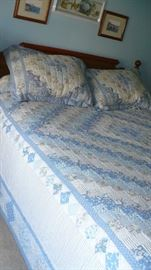BEDROOM SET WITH HAND MADE QUILT
