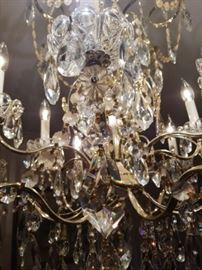 Vintage Schonbek Crystal Chndelier     $800