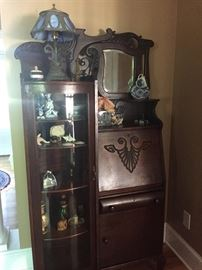 BEAUTIFUL ANTIQUE SIDE-BY-SIDE SECRETARY