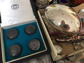 Georg Jensen Salt, Pepper & Covered Bowl