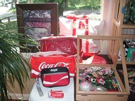 Coca-Cola bags + cooler