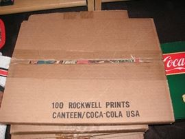 Norman Rockwell repro prints; 4 different boxes