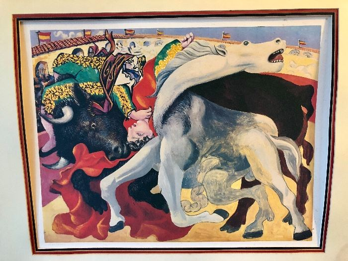 "Picasso - ""Corrida La Mort du Torero"" (The Death of the Bullfighter) - 1980, Litho on Arches paper numbered in pencil- 1120 in an edition of 5000 - Printed by I.M.L., Paris"