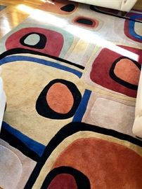 Abstract, contemporary rug