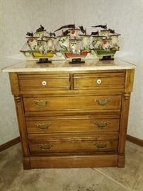 Nice solid cabinet and Columbus ships