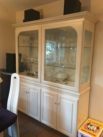 White enamel china cabinet