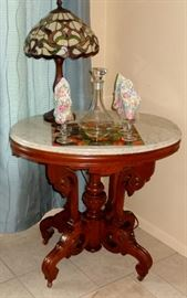BEAUTIFUL MARBLE TOP PARLOR TABLE