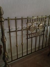 Exceptional brass headboard from Scotland