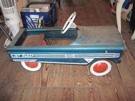 Vintage 1960's AMF Jet Sweep Peddle Car