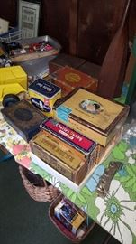 Cigar Boxes - some wooden, tin and cardboard