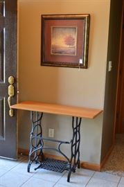 Antique sewing table, picture