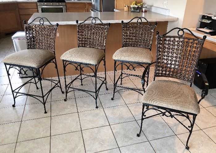 3 kitchen bar stools and desk chair