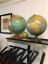 We love a good globe and ... and we collected up a bunch of lovely ones for this sale