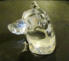Crystal Bear's Head by Baccarat