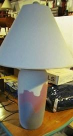 Large ceramic based table lamp