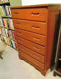 Modernist 6 drawer chest