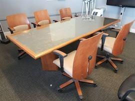 Hon Custom made conference table and 5 chairs