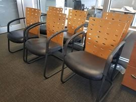 Lot of (6) office chairs