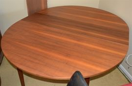 Mid Century Modern Dining Set - Table and Six Chairs by Walter of Wabash