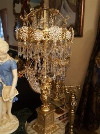 4 foot tall chandelier lamp I have a pair of these lamps in perfect condition