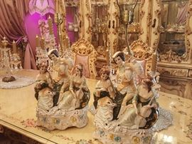 I have a pair of two Capodimonte lamps