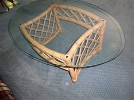 Glass Top Rattan Tables   https://ctbids.com/#!/description/share/25644