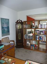 Grandfather's Clock & Bookcase