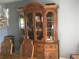 This is a high-end china cabinet bought together with table and chairs for several thousand when new -- it is in excellent condition.